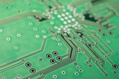 Fondo electrónico verde del tablero Sistema informático stock de ilustración