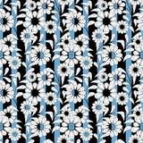 Fondo elegante abstracto inconsútil de la raya del modelo de flores Foto de archivo