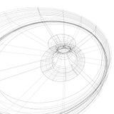Fondo elegante blanco y negro de la tecnología contemporánea, abst Foto de archivo libre de regalías