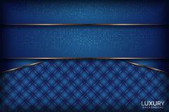 Fondo elegante blu reale della marina lussuosa illustrazione vettoriale