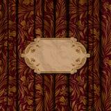 Fondo elegante con el ornamento del cordón Imagenes de archivo
