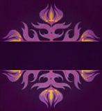 Fondo elegante con l'ornamento floreale del damasco Immagine Stock