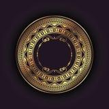 Fondo elegante con la struttura circolare dell'oro illustrazione vettoriale
