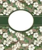 Fondo elegante con las flores de la acuarela stock de ilustración