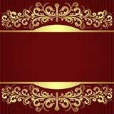 Fondo elegante con las fronteras de oro reales. Imagen de archivo libre de regalías