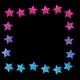Fondo elegante con le stelle variopinte e posto per testo Immagini Stock Libere da Diritti