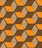Fondo elegante con pequeñas formas triangulares, rejilla hexagonal imagenes de archivo