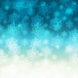 Fondo elegante de la Navidad con los copos de nieve Fotografía de archivo libre de regalías