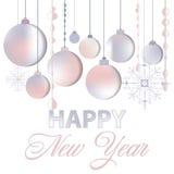 Fondo elegante de los saludos para los aviadores o el folleto para los eventos del Año Nuevo Fotos de archivo libres de regalías