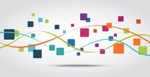 Fondo elegante del concepto del icono de los apps del teléfono Imágenes de archivo libres de regalías