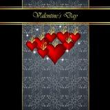 Fondo elegante del día del ` s de la tarjeta del día de San Valentín imagen de archivo