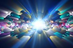 Fondo elegante del extracto del diseño del fractal Foto de archivo