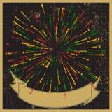 Fondo elegante del retro-estilo de los fuegos artificiales Fotos de archivo libres de regalías