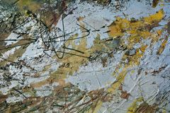 Fondo elegante della pittura a olio Immagini Stock Libere da Diritti