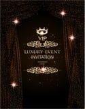 Fondo elegante di evento di lusso con le tende scintillanti del teatro royalty illustrazione gratis