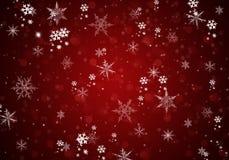 Fondo elegante di Natale con i fiocchi di neve bianchi illustrazione vettoriale