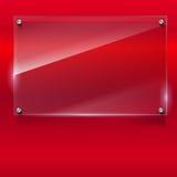 Fondo elegante di vettore con l'insegna di vetro Fotografie Stock Libere da Diritti