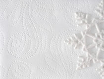 Fondo elegante mínimo de la Navidad Copo de nieve en textura del Libro Blanco foto de archivo
