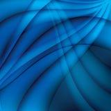 Fondo elegante ondulado azul abstracto Imagen de archivo libre de regalías