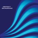 Fondo elegante ondulado azul abstracto Fotografía de archivo libre de regalías