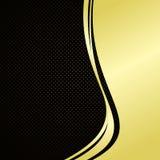 Fondo elegante: oro y negro. Fotos de archivo