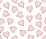 Fondo (embaldosado) inconsútil de los corazones florales ilustración del vector