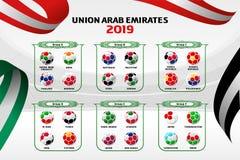 Fondo Emirati Arabi Uniti di colore dell'illustrazione di vettore fotografia stock libera da diritti
