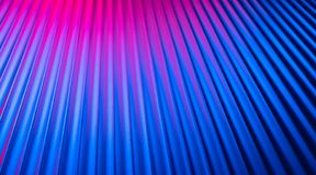 Fondo en blanco vacío de la pared de neón con la luz rosada azul del color de la noche de la pendiente fotos de archivo