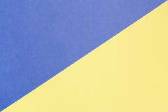 Fondo en colores pastel azul y amarillo con el espacio de la copia Textura de la moda, concepto mínimo, imágenes de archivo libres de regalías