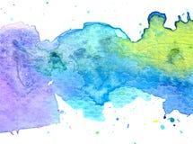 Fondo en colores pastel colorido de la pintura de la acuarela Foto de archivo libre de regalías