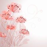 Fondo en colores pastel de la flor Fotos de archivo libres de regalías