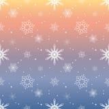 Fondo en colores pastel del color del cielo de la capa del tinte del modelo del copo de nieve Foto de archivo
