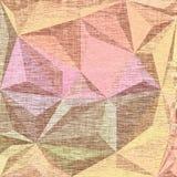 Fondo en colores pastel festivo de la materia textil con los triángulos Foto de archivo