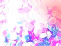 Fondo en colores pastel rosado del extracto de la burbuja Imagenes de archivo