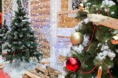 Fondo en el tema de la Navidad y del Año Nuevo Imagen de archivo