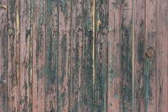 Fondo en estilo un rústico de viejos tableros pintados de madera desnudos Foto de archivo libre de regalías