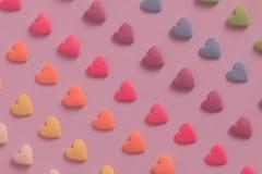 Fondo en forma de corazón colorido del modelo del caramelo fotografía de archivo