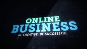 Fondo en línea creativo del concepto del negocio Fotografía de archivo