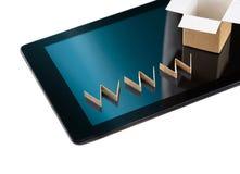 Fondo en línea del concepto de las compras aislado en blanco Imágenes de archivo libres de regalías