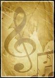 Fondo en retro - estilo, con símbolos musicales Imagenes de archivo