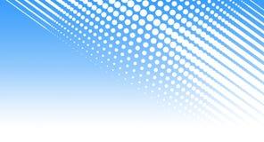 Fondo en tonos azules y blancos con un modelo Foto de archivo libre de regalías