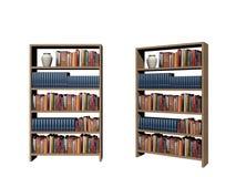 Fondo en un fondo blanco - del estante de librería de la biblioteca representación 3d ilustración del vector