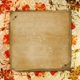 Fondo enajenado del papel del oro para el aviso Imagen de archivo libre de regalías