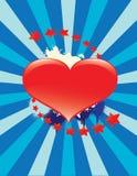Fondo encantador del corazón Imagen de archivo libre de regalías
