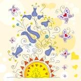 Fondo encantador floral Imágenes de archivo libres de regalías