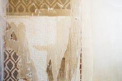 Fondo envejecido con el papel pintado rasgado del vintage, vieja textura de la pared del sitio del fondo fotos de archivo