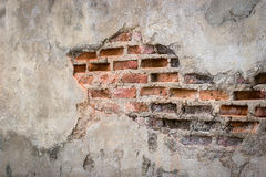 Fondo envejecido de la pared de la calle, viejo fondo de la textura del ladrillo rojo Imagen de archivo libre de regalías