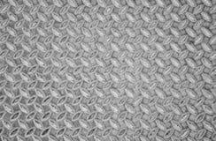 Fondo envejecido del modelo de la textura de la placa del diamante del acero inconsútil del metal Fotos de archivo libres de regalías