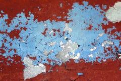 Fondo envejecido rojo y azul de Grunge de la pared de la textura imagenes de archivo