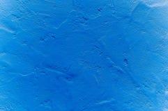 Fondo enyesado azul de la pared fotos de archivo
